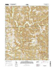 Bee Spring Kentucky Current topographic map, 1:24000 scale, 7.5 X 7.5 Minute, Year 2016 from Kentucky Maps Store