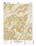 Big Spring Kentucky Current topographic map, 1:24000 scale, 7.5 X 7.5 Minute, Year 2016 from Kentucky Map Store
