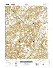 Big Spring Kentucky Current topographic map, 1:24000 scale, 7.5 X 7.5 Minute, Year 2016 from Kentucky Maps Store