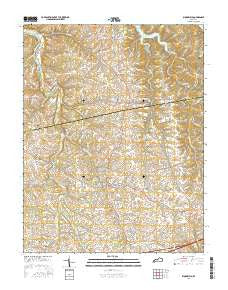 Bloomfield Kentucky Current topographic map, 1:24000 scale, 7.5 X 7.5 Minute, Year 2016