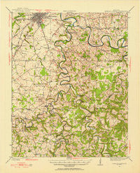 Bowling Green Kentucky Historical topographic map, 1:62500 scale, 15 X 15 Minute, Year 1921