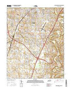 Bowling Green South Kentucky Current topographic map, 1:24000 scale, 7.5 X 7.5 Minute, Year 2016 from Kentucky Map Store