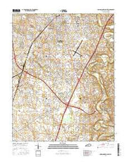 Bowling Green South Kentucky Current topographic map, 1:24000 scale, 7.5 X 7.5 Minute, Year 2016 from Kentucky Maps Store