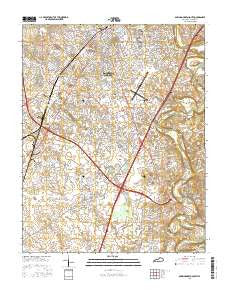 Bowling Green South Kentucky Current topographic map, 1:24000 scale, 7.5 X 7.5 Minute, Year 2016
