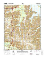 Briensburg Kentucky Current topographic map, 1:24000 scale, 7.5 X 7.5 Minute, Year 2016 from Kentucky Map Store