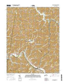 Broad Bottom Kentucky Current topographic map, 1:24000 scale, 7.5 X 7.5 Minute, Year 2016