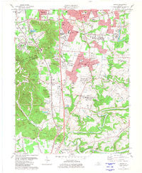 Brooks Kentucky Historical topographic map, 1:24000 scale, 7.5 X 7.5 Minute, Year 1981