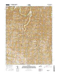 Buckeye Kentucky Current topographic map, 1:24000 scale, 7.5 X 7.5 Minute, Year 2016
