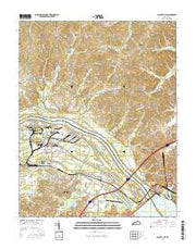 Calvert City Kentucky Current topographic map, 1:24000 scale, 7.5 X 7.5 Minute, Year 2016 from Kentucky Maps Store