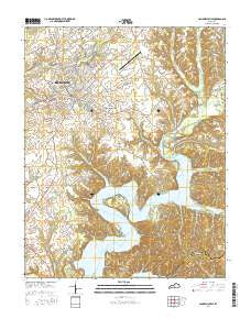 Campbellsville Kentucky Current topographic map, 1:24000 scale, 7.5 X 7.5 Minute, Year 2016