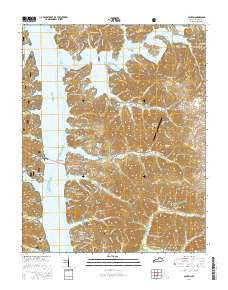 Canton Kentucky Current topographic map, 1:24000 scale, 7.5 X 7.5 Minute, Year 2016