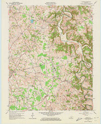 Center Kentucky Historical topographic map, 1:24000 scale, 7.5 X 7.5 Minute, Year 1961