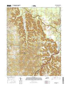 Colesburg Kentucky Current topographic map, 1:24000 scale, 7.5 X 7.5 Minute, Year 2016