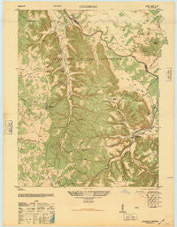 Colesburg Kentucky Historical topographic map, 1:24000 scale, 7.5 X 7.5 Minute, Year 1946