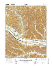 Concord Kentucky Current topographic map, 1:24000 scale, 7.5 X 7.5 Minute, Year 2016 from Kentucky Maps Store