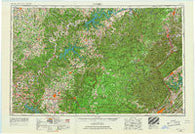 Corbin Kentucky Historical topographic map, 1:250000 scale, 1 X 2 Degree, Year 1956