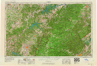 Corbin Kentucky Historical topographic map, 1:250000 scale, 1 X 2 Degree, Year 1958