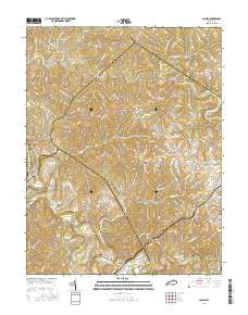 Cowan Kentucky Current topographic map, 1:24000 scale, 7.5 X 7.5 Minute, Year 2016