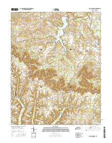 Crab Orchard Kentucky Current topographic map, 1:24000 scale, 7.5 X 7.5 Minute, Year 2016