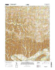 Creelsboro Kentucky Current topographic map, 1:24000 scale, 7.5 X 7.5 Minute, Year 2016