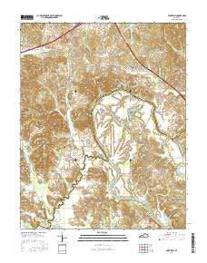 Cromwell Kentucky Current topographic map, 1:24000 scale, 7.5 X 7.5 Minute, Year 2016