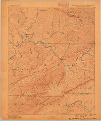 Cumberland Gap Kentucky Historical topographic map, 1:125000 scale, 30 X 30 Minute, Year 1888