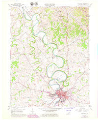 Cynthiana Kentucky Historical topographic map, 1:24000 scale, 7.5 X 7.5 Minute, Year 1961