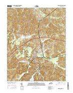 Dawson Springs Kentucky Current topographic map, 1:24000 scale, 7.5 X 7.5 Minute, Year 2016 from Kentucky Map Store