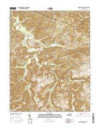 Dawson Springs SE Kentucky Current topographic map, 1:24000 scale, 7.5 X 7.5 Minute, Year 2016 from Kentucky Map Store