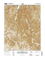 Dawson Springs SW Kentucky Current topographic map, 1:24000 scale, 7.5 X 7.5 Minute, Year 2016 from Kentucky Map Store