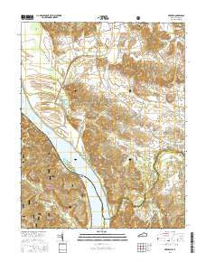 Dekoven Kentucky Current topographic map, 1:24000 scale, 7.5 X 7.5 Minute, Year 2016