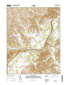 Delaware Kentucky Current topographic map, 1:24000 scale, 7.5 X 7.5 Minute, Year 2016