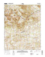 Dennis Kentucky Current topographic map, 1:24000 scale, 7.5 X 7.5 Minute, Year 2016 from Kentucky Map Store