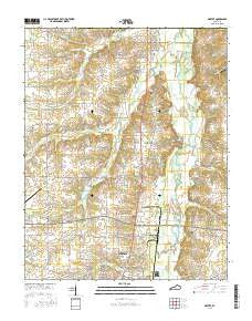 Dexter Kentucky Current topographic map, 1:24000 scale, 7.5 X 7.5 Minute, Year 2016