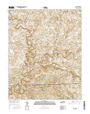 Dot Kentucky Current topographic map, 1:24000 scale, 7.5 X 7.5 Minute, Year 2016 from Kentucky Maps Store