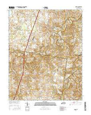 Drake Kentucky Current topographic map, 1:24000 scale, 7.5 X 7.5 Minute, Year 2016 from Kentucky Maps Store