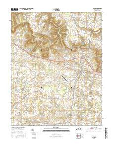 Elkton Kentucky Current topographic map, 1:24000 scale, 7.5 X 7.5 Minute, Year 2016