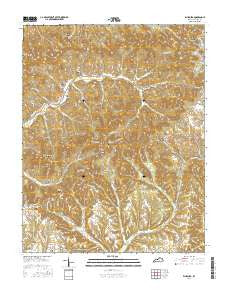 Ellisburg Kentucky Current topographic map, 1:24000 scale, 7.5 X 7.5 Minute, Year 2016