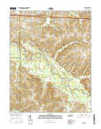 Elva Kentucky Current topographic map, 1:24000 scale, 7.5 X 7.5 Minute, Year 2016 from Kentucky Map Store
