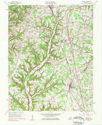 Eubank Kentucky Historical topographic map, 1:24000 scale, 7.5 X 7.5 Minute, Year 1961