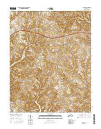 Faubush Kentucky Current topographic map, 1:24000 scale, 7.5 X 7.5 Minute, Year 2016 from Kentucky Map Store