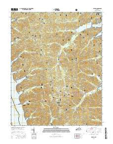 Fenton Kentucky Current topographic map, 1:24000 scale, 7.5 X 7.5 Minute, Year 2016
