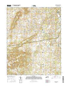 Flaherty Kentucky Current topographic map, 1:24000 scale, 7.5 X 7.5 Minute, Year 2016
