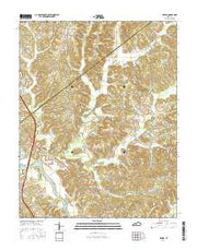 Flener Kentucky Current topographic map, 1:24000 scale, 7.5 X 7.5 Minute, Year 2016 from Kentucky Maps Store