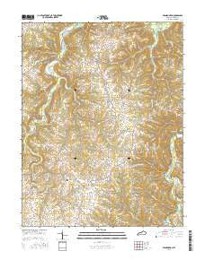 Franklinton Kentucky Current topographic map, 1:24000 scale, 7.5 X 7.5 Minute, Year 2016