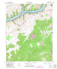 Frazer Kentucky Historical topographic map, 1:24000 scale, 7.5 X 7.5 Minute, Year 1978