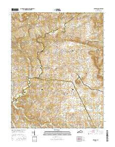 Fredonia Kentucky Current topographic map, 1:24000 scale, 7.5 X 7.5 Minute, Year 2016