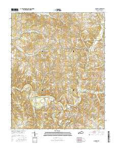 Gamaliel Kentucky Current topographic map, 1:24000 scale, 7.5 X 7.5 Minute, Year 2016