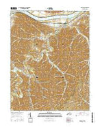 Garrison Kentucky Current topographic map, 1:24000 scale, 7.5 X 7.5 Minute, Year 2016 from Kentucky Map Store