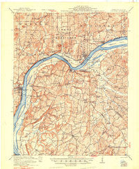 Golconda Illinois Historical topographic map, 1:62500 scale, 15 X 15 Minute, Year 1921